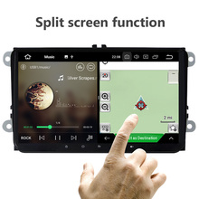 Eunavi 9'' Quad core 2 Din Android 9.0 car radio stereo gps for VW Polo Jetta Tiguan passat b6 cc fabia mirror link wifi usb