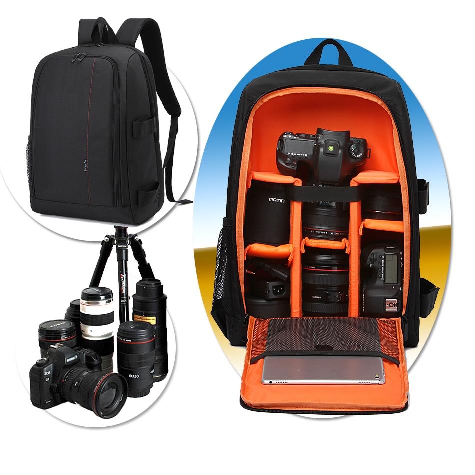 DSLR Waterproof Camera Bag for Nikon D3400 D3200 D5100 D7100 D5200 D5300 D3300 D90 D7200 Sony ILCE-7M2 A7RII ILCE-6500/a6500 A77 huwang multifunction dslr camera backpack bag case for nikon d7200 d7100 d5300 d3400 d90 sony a7 ii iii canon 750d 200d lens bag