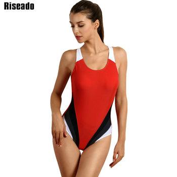 db041a91f594b Best Price Riseado Competitive Swimwear Women 2018 One Piece Swimsuit  Female Swim Wear for Training Swimming Class Bathing Suits