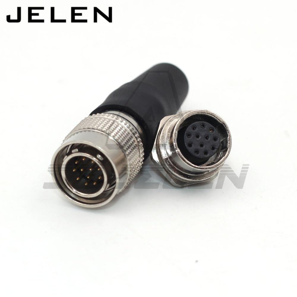 Industrie Kamera Stecker, Automatisierung Stecker Steckdose, Hirose Stecker 12pin Stecker Buchse HR10A-10R-12S/HR10A 10 P-12 P