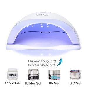 Image 5 - ROHWXY 72 W נייל מייבש UV LED נייל מנורת עבור מניקור USB קרח מנורת ציפורניים אמנות כלי עבור מהיר ייבוש כל ג ל פולני היברידי לכה