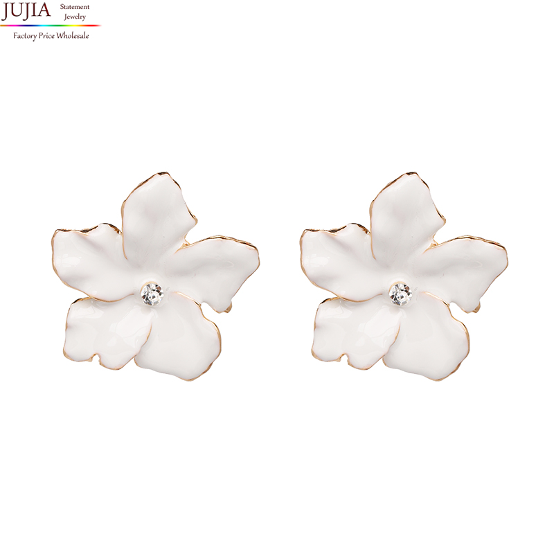 JUJIa New 2018 Trend fashion hot sale women vintage flower statement Earrings for women jewelry