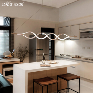 Image 4 - Dinning Room Pendant Lights Led modern for dinning room Acrylic+Metal suspension hanging ceiling lamp home lighting for Kitchen