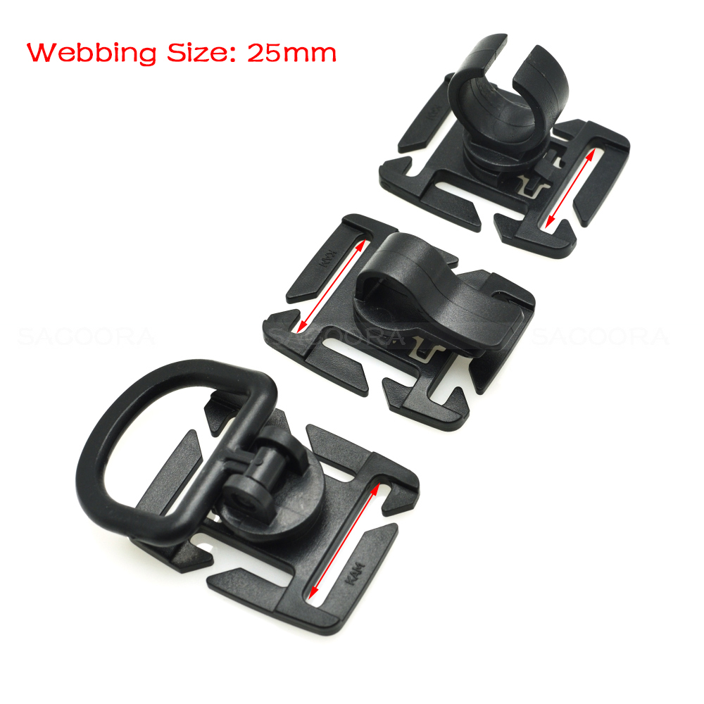 Arts,crafts & Sewing Buckles & Hooks Molle Rotation Sternum Strap Tube Pipe Clip Holder Buckle Webbing 25mm Black Buy One Get One Free