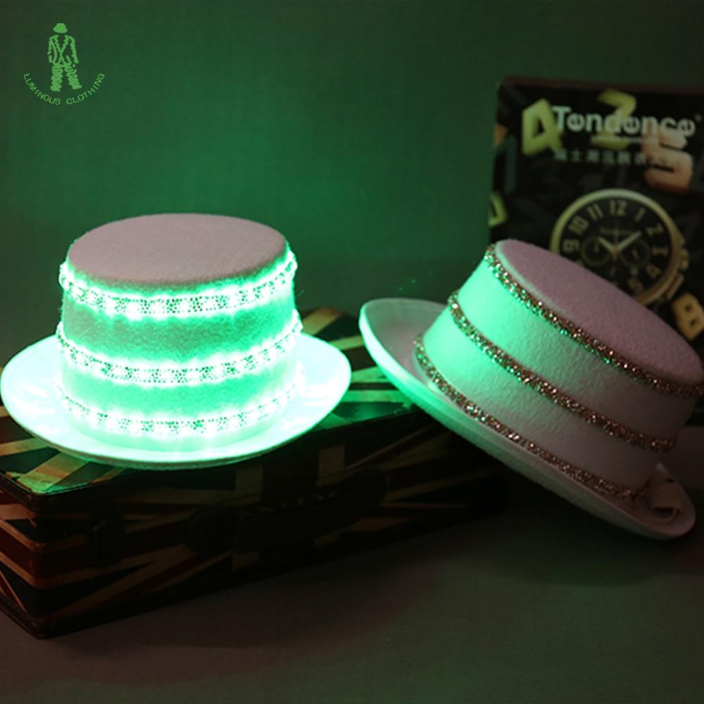 Besplatna dostava LED rasvjeta šljokice Hat Hop Jazz Kape Cap Klub - Za blagdane i zabave - Foto 5