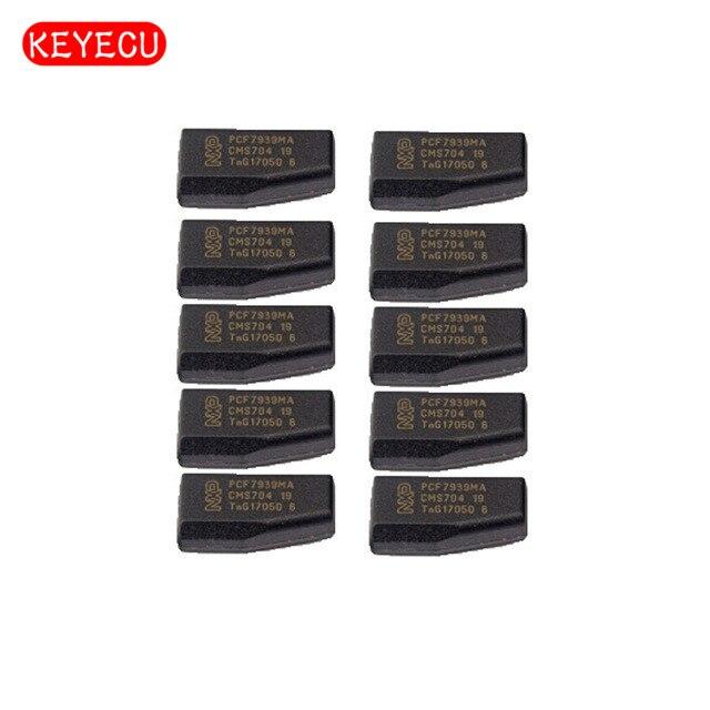 Keyecu 10PCS LOT Blank Transponder Chip PCF7939MA TP39 for Renault