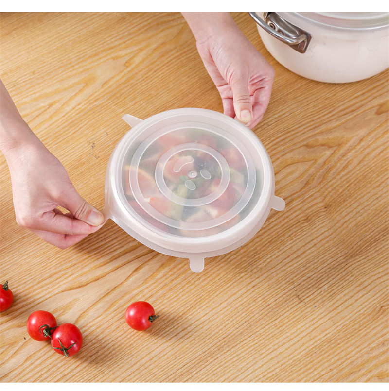 Thickening Yooap 6PCS Set Food Grade Silicone Wrap Food Fresh keeping Lids Stretch Lids Universal Lid Silicone Wrap Bowl Cover in Fresh keeping Lids from Home Garden
