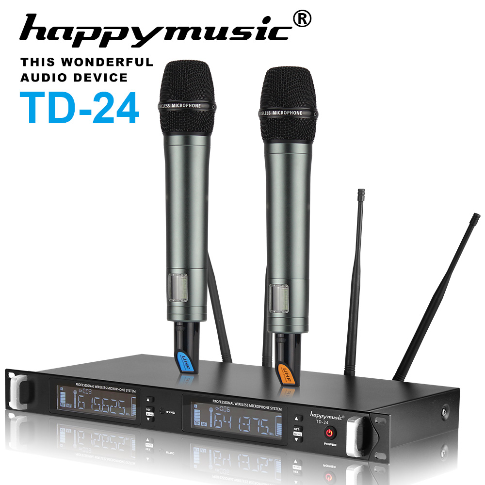 New! 4 Antenna 200 Channel Dual UHF Professional Wireless Microphone System Karaoke, Wedding, Conference, Meeting, Stage