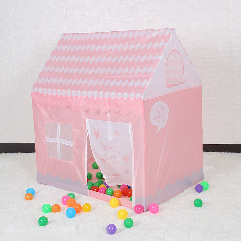 100*70*110cm Children Beach Tent Girl Lovely Pink Play Game House Ocean Ball Tent Princess Castle Indoor Outdoor Toys Tent D171 foldable play tent kids children boy girl castle cubby play house bithday christmas gifts outdoor indoor tents
