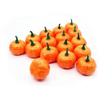 16pcs/Pack Mini Foam Pumpkin For Thanksgiving Fall Halloween Table Decor Vase Filler DIY Centerpieces Wedding Decorating 5