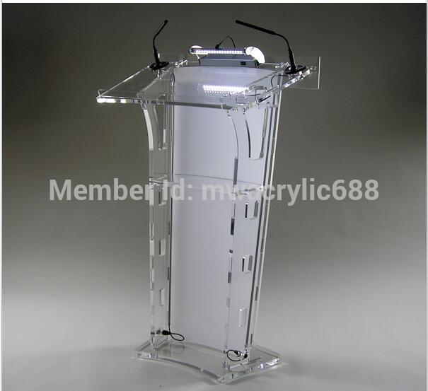 Free Shipping Ho Yode Monterrey Price Reasonable Acrylic Podium Pulpit Lectern Does not contain a microphone bichi belt leg band combination does not contain light bulbs
