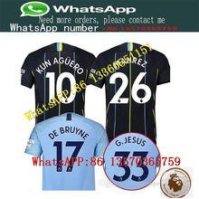 3b32f1c2b 2018 Soccer T-shirts patch 18 19 Manchester city KUN AGUERO home away G. JESUS top quality MAHREZ SANE SILVA Football Shirts