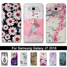Soft TPU Case For Samsung Galaxy J7 2016 J710F Phone Back Co
