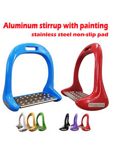 Riding-Equipment Stirrup Horseback Equestrian Anti-Slip Stainless-Steel Aluminum