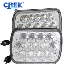 CREK 7X6 5X7 45W LED Light Bulbs Crystal Clear Sealed HI/LO Beam Lamp H4 Plug Headlight For Jeep Wrangler YJ Cherokee XJ Truck
