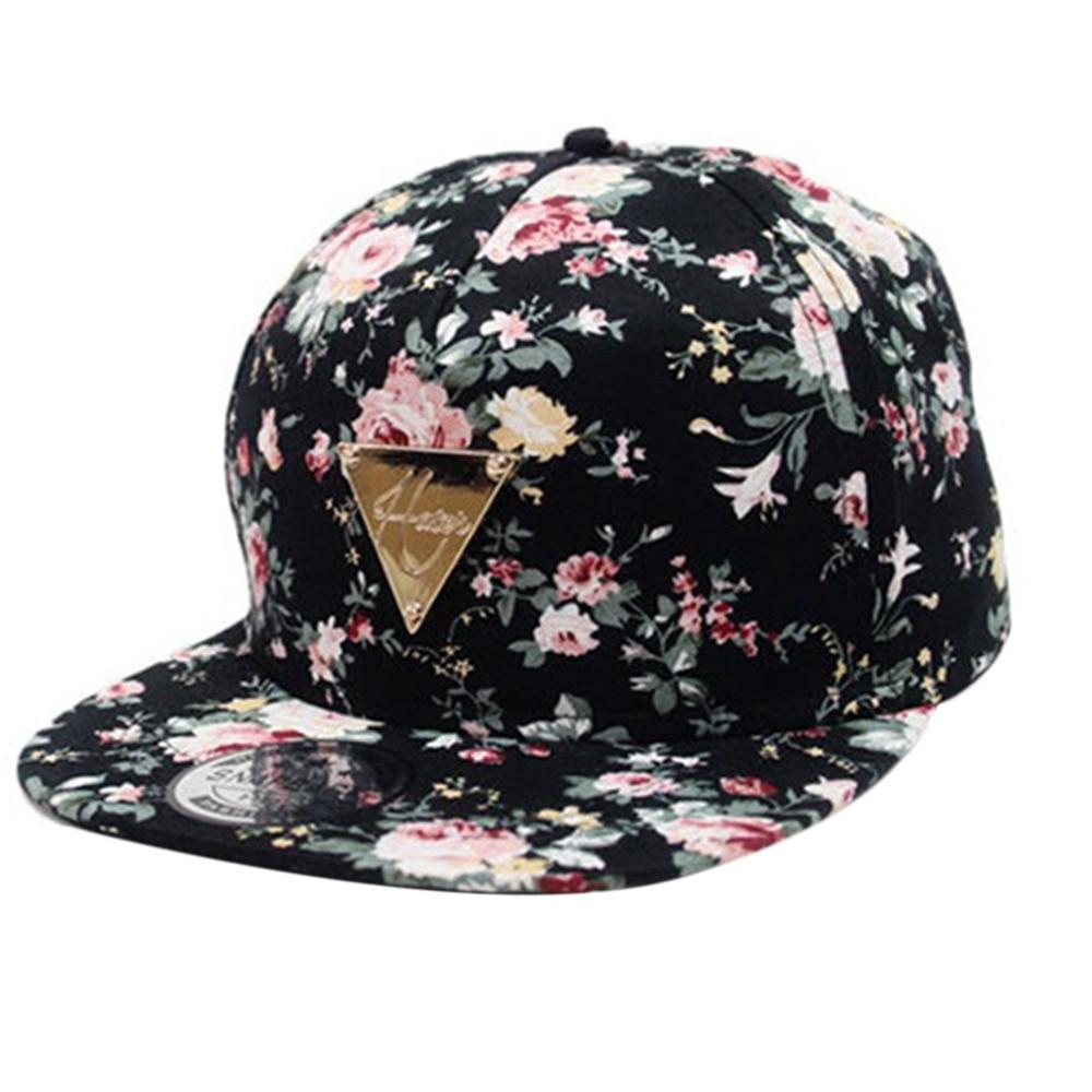 2018 Men Women Floral Baseball Cap Summer Autumn Beach Fashion Sun hat  Snapback Hip-Hop Flat ... 897fb42dfe1