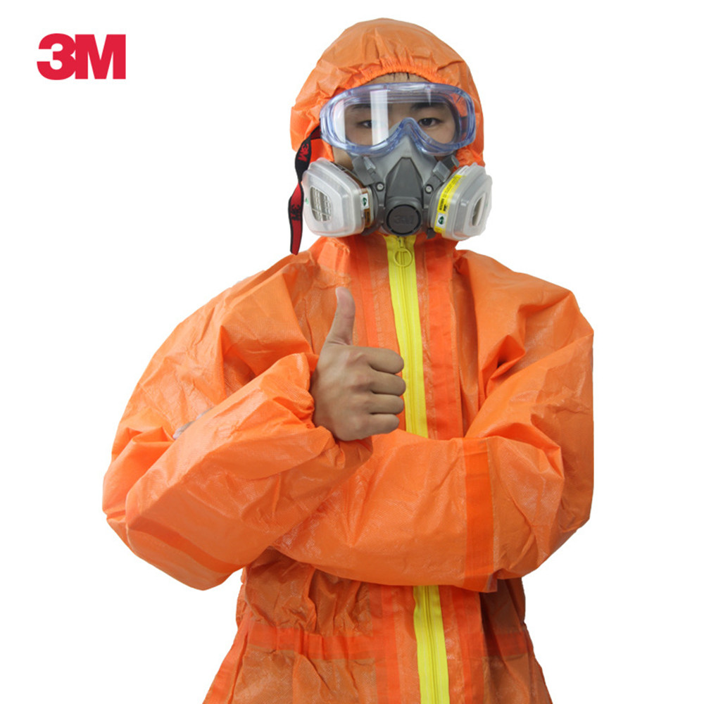 3M 4690 Protective Clothing Isolation Anti Chemical Liquid Nuclear Radiation Spray Fog Acid And Alkali Resistant Overalls