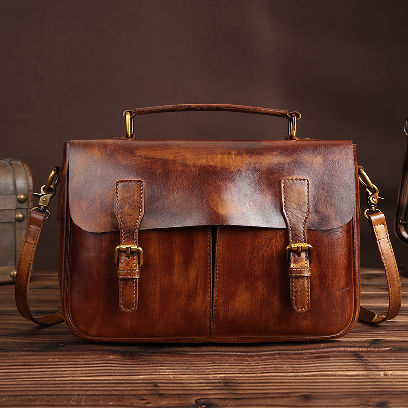 YISHEN Vintage Genuine Leather Men Messenger Bag Women Handbags Male Crossbody Bags Casual Travel Bags Men Shoulder Bags LS8854 men shoulder bags genuine leather vintage male business messenger bags vogue multifunction casual travel crossbody pack rucksack