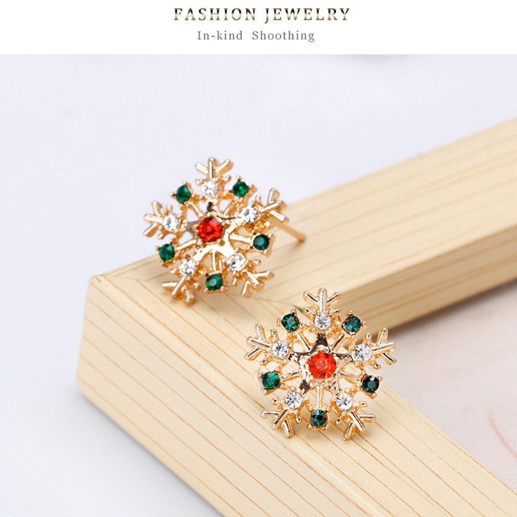 Cute Pretty Creative Fashion Snowflake Stud Earrings Christmas Fashion Trends Earrings Casual Elegance Luxury Earrings 2019 Gift