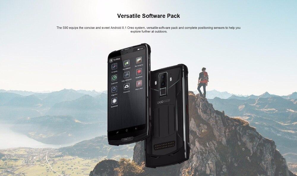 Téléphone portable robuste modulaire IP68/IP69K DOOGEE S90 6.18 ''FHD + écran intégré Helio P60 Octa Core 6 GB 128 GB Android 8.1 16 M Cam - 6