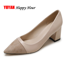 Sexy Ladies High Heels Women Shoes 2019 Fashion Luxury Brand Woman Party Pumps Office Square Heel 6cm A1096