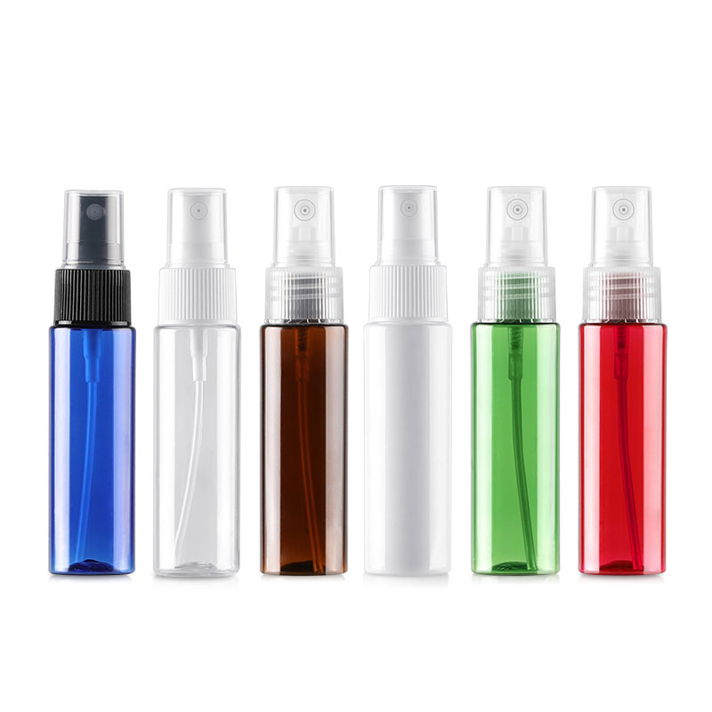 50 X 30ml Spray Refillable Bottles Packing Perfume 1OZ Travel Plastic Bottle With Mist Spray Pump