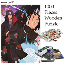 MOMEMO Uchiha Itachi Puzzle 1000 Pieces Jigsaw Cartoon Anime Puzzles for Adults NARUTO Wooden Puzzle 1000 Pieces Toys for Kids momemo cartoon london puzzle 1000 pieces jigsaw puzzles for adults wooden high definition 1000 pieces puzzle for children gifts