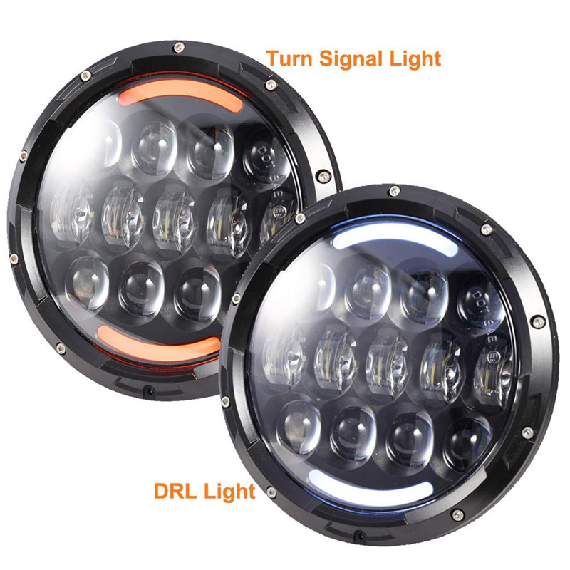 7 INCH 105W Daymaker headlights Driving light White DRL/Amber turn singnal for Jeep Wrangler JK Hummer H1 H2 Waterproof headla windshield pillar mount grab handles for jeep wrangler jk and jku unlimited solid mount grab textured steel bar front fits jeep