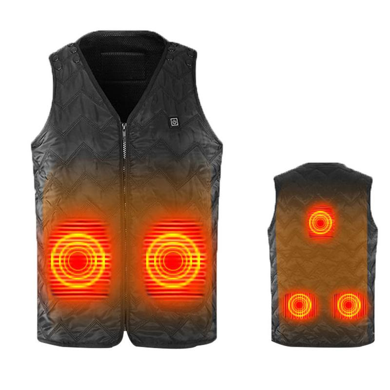 Outdoor Thermal Heated Electric Heated Vest Men And Women Warmming Heating Vest USB Heating Charging Warm Body Electric Vest large size autumn and winter men s stand collar heating cotton vest graphene electric vest adjustable usb charging heated cloth
