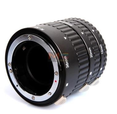 Meike MK-N-AF-A Metal Auto Focus AF Macro Extension Tube Set for Nikon Camera meike mk n af1 b auto focus macro extension tube ring plastic for nikon d800 d90 d3200 d5000 d5100 d5200 d7000 d7100 camera dslr