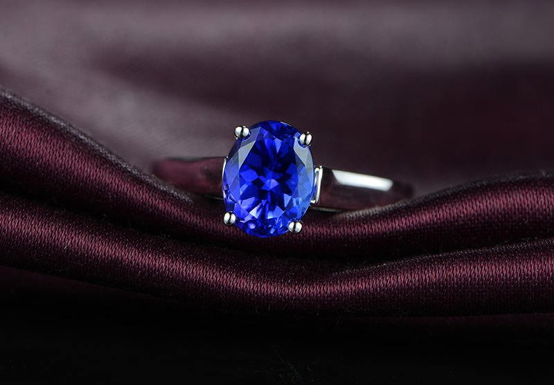 Brand new original 3 carat 925 sterling silver tanzanite diamant ring sapphire ring US size from 4.5 to 9 кольцо brand new ring