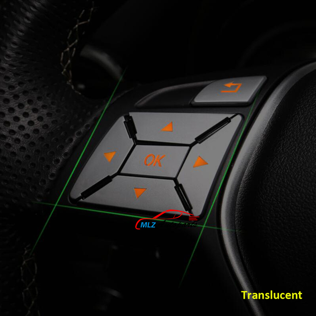Steering Wheel Panel Knob Button Switch Trim Cover Sticker 12P For Mercedes Benz ML GL Class W166 X166 2012 2013 2014 2015