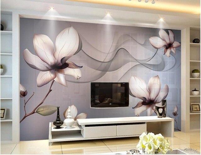 Custom 3d wallpaper transparent flowers dream background wall flower wallpaper 3d wallpaper for room