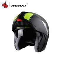 NENKI Motorcycle Helmet Flip Up Full Face Racing Helmets Double Lens Motorbike Helmets Capacete De Moto