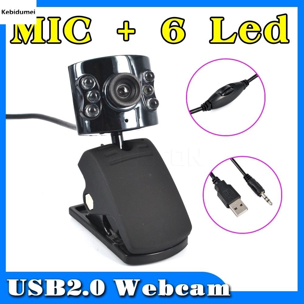 Kebidumei 30 Mega Pixel Usb 2 0 Camera Webcam 6 Led Light