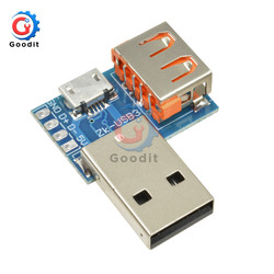 Convertidor USB estándar tipo A, adaptador de Terminal macho A Micro USB A 4P, Conector de 2,54mm