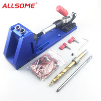 ALLSOME Portable Pocket Hole Jig Kit System With PH1 Screwdriver 9 5mm Drill Bit Set For