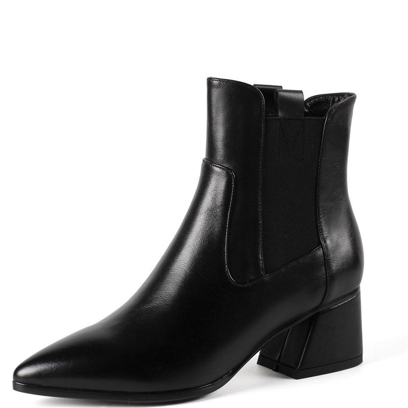 LOVEXSS Woman Autumn Winter Platform Ankle Boots Fashion Plus Size 35 40 Martin Boots Black White Claret High Heeled Shoes 2018 lovexss woman genuine leather ankle boots autumn winter high heeled shoes fashion plus size 32 43 black work chelsea boots