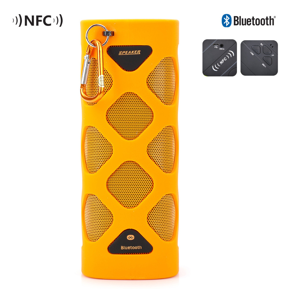 TUTUO MS-319AX Bluetooth Speaker Portable Wireless Waterproof Bluetooth 4.0 NFC Mini Speaker for Indoor Outdoor Sports (Orange) ufo shape portable mini rechargeable bluetooth v2 1 speaker black orange