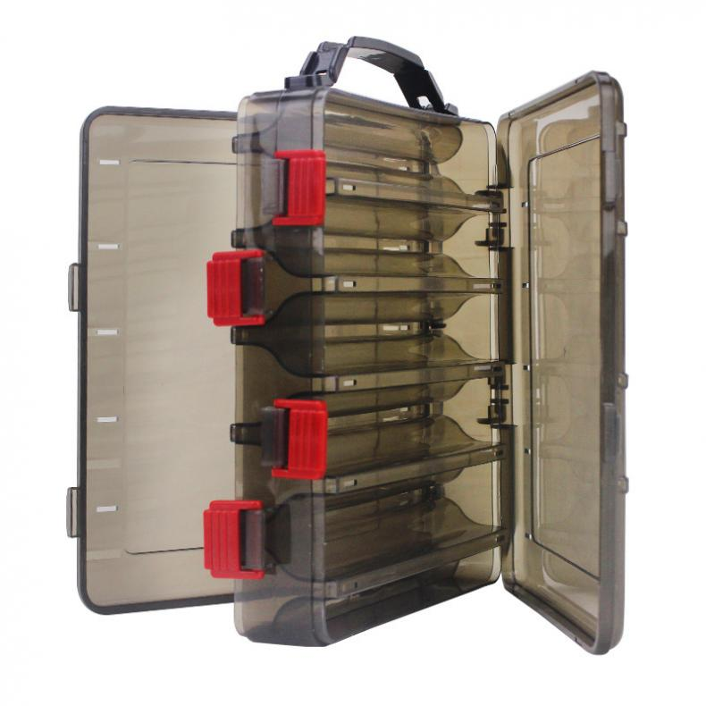 20 X 17 X 5cm Double Side 10 Compartments Fishing Tackle Box Multi Function Portable  With Air Hole For  Lures Storage