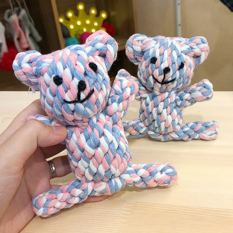 1 шт., устойчивые к укусам жевательные Игрушки для маленьких собак, чистящие зубы, веревка для щенка, шарик с узлом, игрушка, игра в животных, игрушки для домашних животных-1