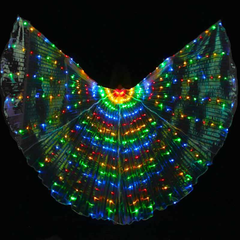 New 2017 Luminous LED Isis Wings for BellyDancing Colorful belly dance LED Wings stage Performance Props LED light Wings 3 color