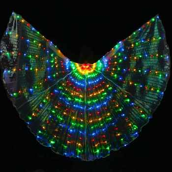 New 2017 Luminous LED Isis Wings for BellyDancing Colorful belly dance LED Wings stage Performance Props LED light Wings 3 color - DISCOUNT ITEM  5% OFF All Category