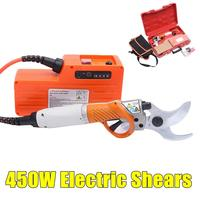 450W Electric Shears Electric Pruner Scissors 36V 4400mah Lithium Battery Electric Pruning Shear Orchard for Fruit Tree Garden