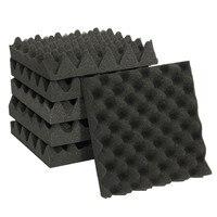 6 шт. 25X25X5 см Студия Акустическая Клин студия пена звук шумоизоляция губка поглощение обработка облицовочная плитка