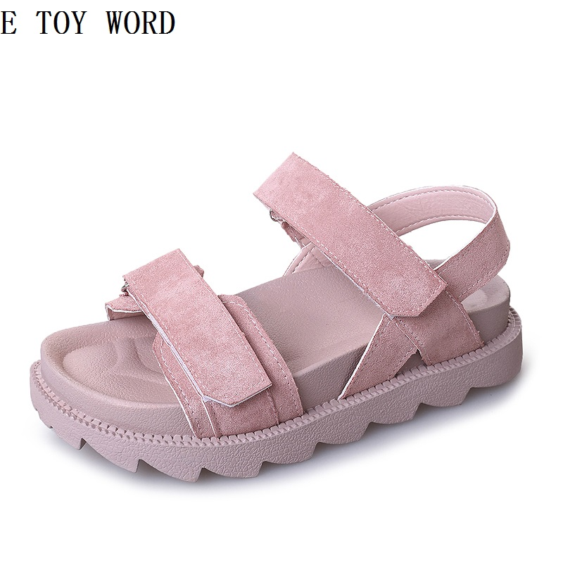 The new 2018 han edition sandals women shoes in summer wind joker large base platform for womens shoes with flat sole