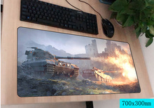 world of tanks mousepad gamer 700x300X3MM gaming mouse pad large Popular notebook pc accessories laptop padmouse
