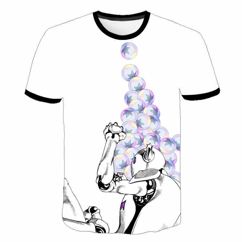 Новинка; футболка с 3D-принтом «Необычные приключения Джоджо»; футболки с аниме; модная новинка; уличная одежда; футболка для отдыха; футболки для мальчиков и девочек