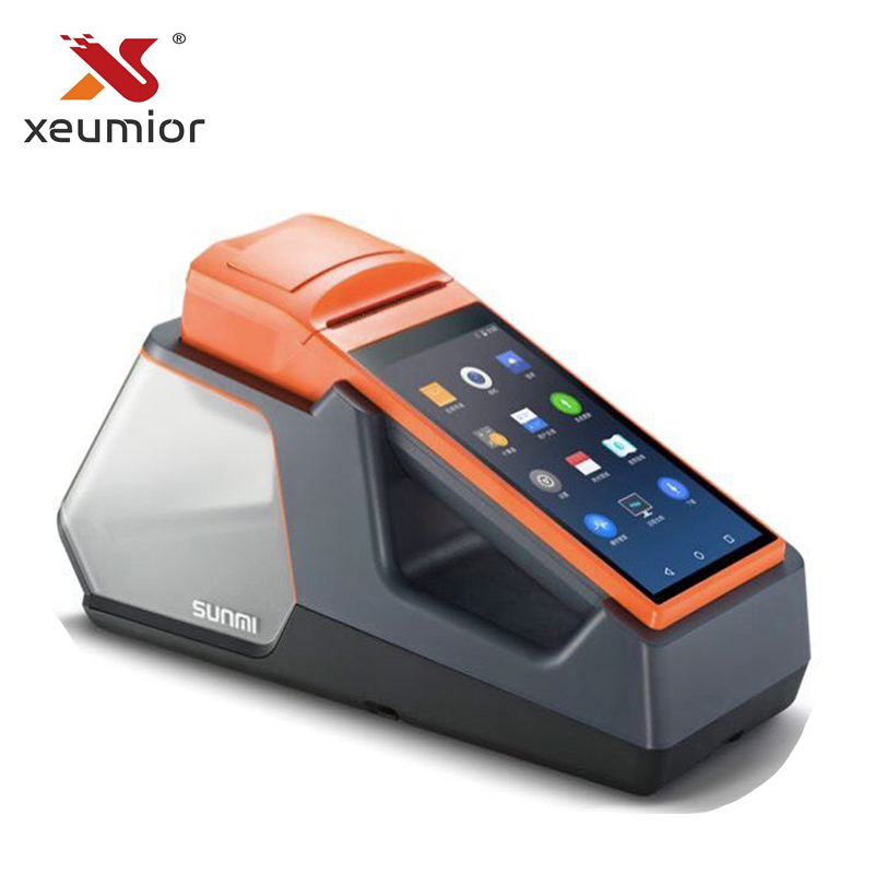 Tablet palmare Terminale POS Sistema di Android6.0 Senza Fili Portatile di Bluetooth 58 millimetri Stampante Termica PDA Sunmi V1S