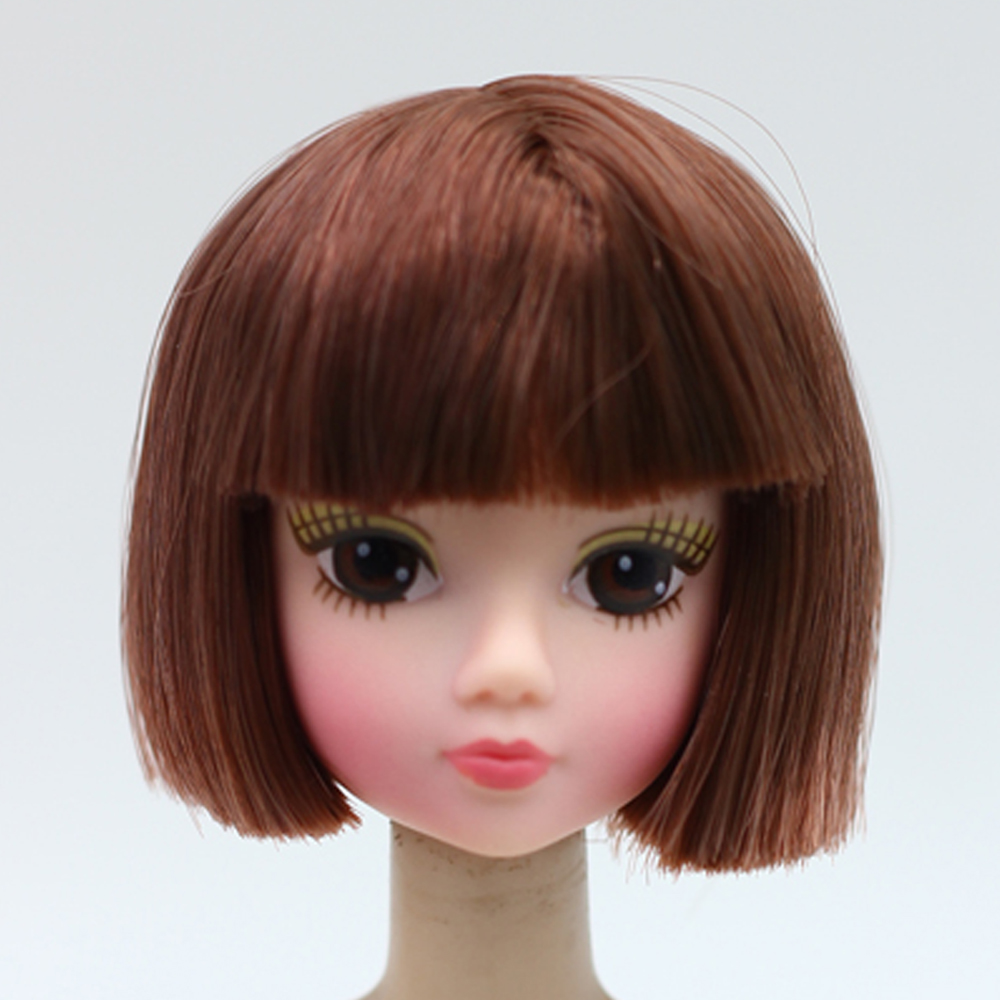1pcs High Quality Doll Head With Brown Hair DIY Head Accessories For Barbie Doll For 1/6 BJD Doll House Er017